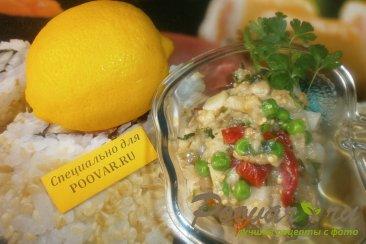 Салат из баклажанов с маринованным огурцом и картофелем Шаг 10 (картинка)