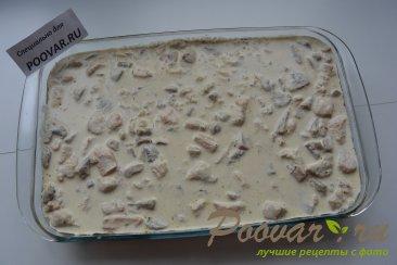 Запеканка с курицей и грибами Шаг 9 (картинка)