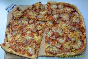 пицца дома из слоеного дрожжевого теста рецепт с фото