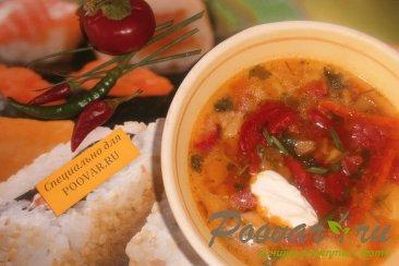 Суп с пшеном и баклажанами Изображение