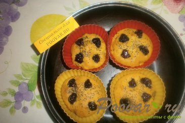 Кексы из тыквы и вишни Шаг 10 (картинка)