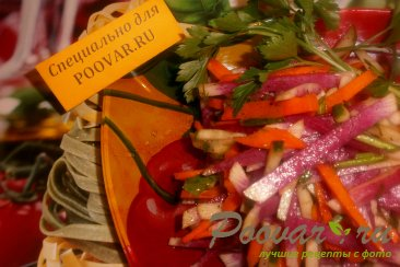 Салат из красной редьки Шаг 9 (картинка)