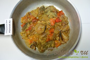 Омлет с замороженными овощами Шаг 9 (картинка)