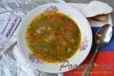 Суп из рыбных консервов Изображение