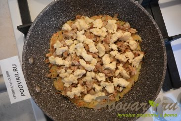 Картофельные драники с мясом и сыром Шаг 10 (картинка)
