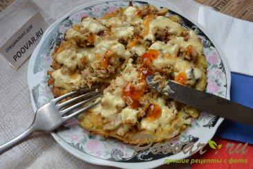 Картофельные драники с мясом и сыром Шаг 13 (картинка)