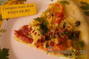 Пицца с жареным перцем и вялеными помидорами Шаг 18 (картинка)