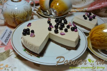 Творожно желейный торт с фруктами без выпечки Изображение
