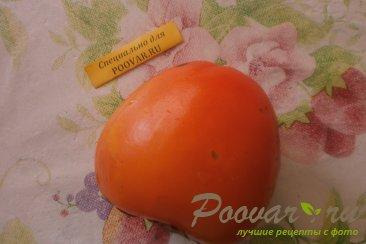 Фруктовый салат из хурмы, яблок и груш Шаг 1 (картинка)