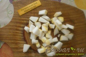 Фруктовый салат из хурмы, яблок и груш Шаг 4 (картинка)