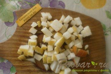 Фруктовый салат из хурмы, яблок и груш Шаг 5 (картинка)