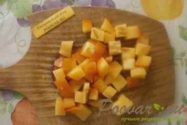 Фруктовый салат из хурмы, яблок и груш Шаг 2 (картинка)