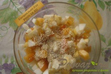 Фруктовый салат из хурмы, яблок и груш Шаг 8 (картинка)