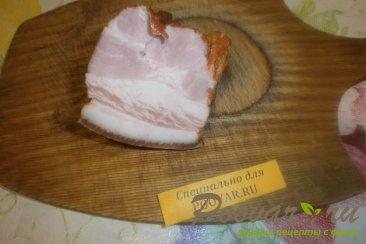 Бутерброды с печёночным паштетом и грудинкой Шаг 1 (картинка)