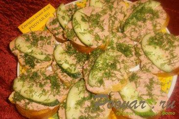 Бутерброды с печёночным паштетом и грудинкой Шаг 10 (картинка)