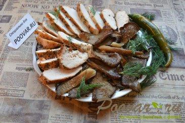 Куриная грудка с грибами вешенка Шаг 8 (картинка)