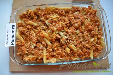 Запеканка из макарон с фаршем и сыром Шаг 9 (картинка)