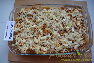 Запеканка из макарон с фаршем и сыром Шаг 11 (картинка)