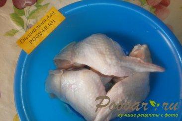 Куриные крылышки с брокколи и тыквой Шаг 1 (картинка)