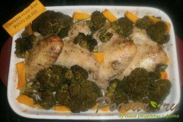 Куриные крылышки с брокколи и тыквой Шаг 12 (картинка)