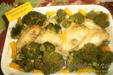 Куриные крылышки с брокколи и тыквой Шаг 13 (картинка)
