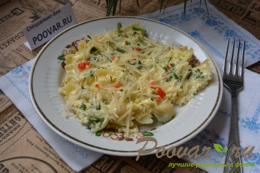 Макароны с яйцами и сыром Шаг 6 (картинка)
