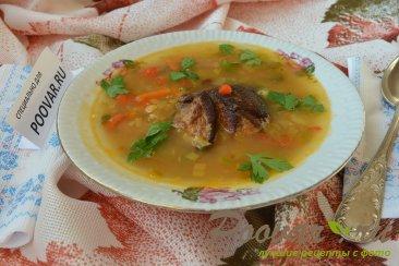 Суп гороховый с копченными свиными ребрышками Шаг 11 (картинка)