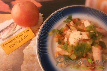 Курица с  овощной замороженной смесью Изображение