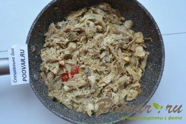 Пицца с курицей и грибами Шаг 6 (картинка)