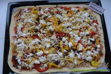 Пицца с курицей и грибами Шаг 15 (картинка)