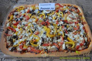 Пицца с курицей и грибами Шаг 16 (картинка)