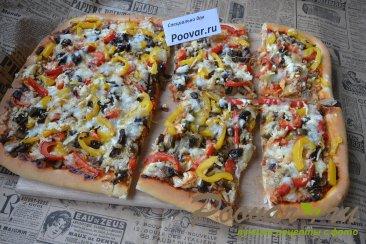 Пицца с курицей и грибами Шаг 17 (картинка)