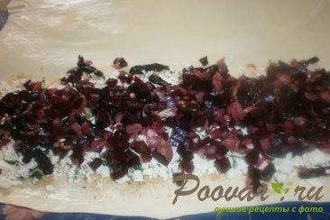 Штрудель со свеклой, черносливом и брынзой Шаг 12 (картинка)