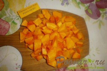 Тыква с яблоками и мандаринами Шаг 2 (картинка)