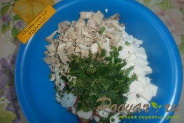 Салат из редиса с брынзой и курицей Шаг 6 (картинка)