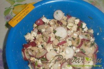 Салат из редиса с брынзой и курицей Шаг 7 (картинка)