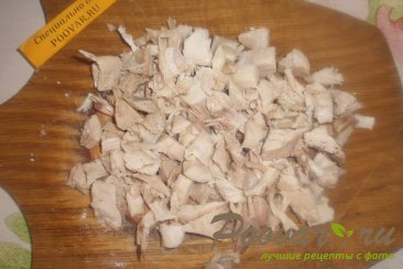 Салат из редиса с брынзой и курицей Шаг 4 (картинка)