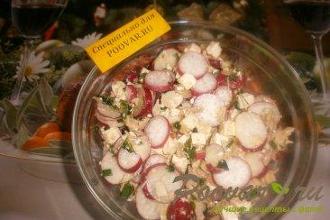 Салат из редиса с брынзой и курицей Шаг 8 (картинка)