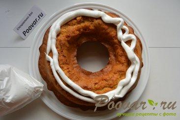 Мандариновый кекс с белково заварным кремом Шаг 11 (картинка)