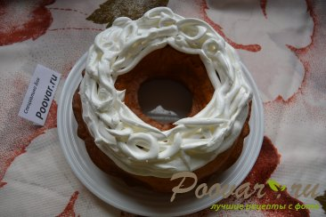 Мандариновый кекс с белково заварным кремом Шаг 12 (картинка)