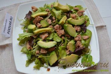 Салат микс с авокадо и тунцом Шаг 5 (картинка)