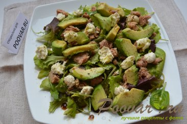 Салат микс с авокадо и тунцом Шаг 6 (картинка)