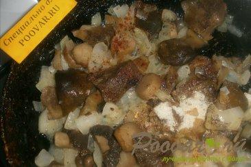 Голубая скумбрия с грибами и луком Шаг 6 (картинка)