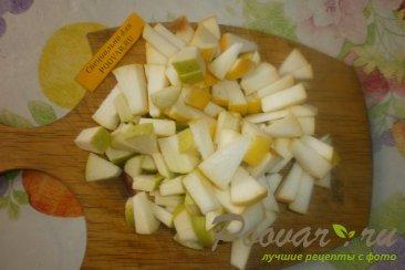 Рулет из творожного теста с яблоками и цукатами Шаг 4 (картинка)
