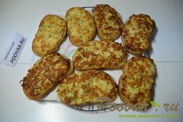 Горячие бутерброды с луком, сыром и яйцом Шаг 8 (картинка)