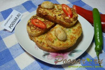 Горячие бутерброды с луком, сыром и яйцом Шаг 11 (картинка)
