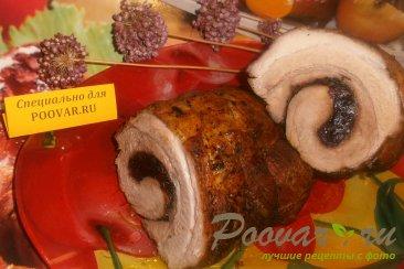 Рулет из грудинки с вяленой вишней и черносливом Шаг 9 (картинка)