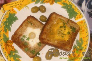 Быстрый завтрак - яйцо с оливками Изображение