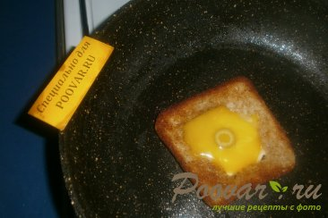 Быстрый завтрак - яйцо с оливками Шаг 4 (картинка)