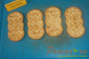 Закуска на печенье крекер Шаг 1 (картинка)